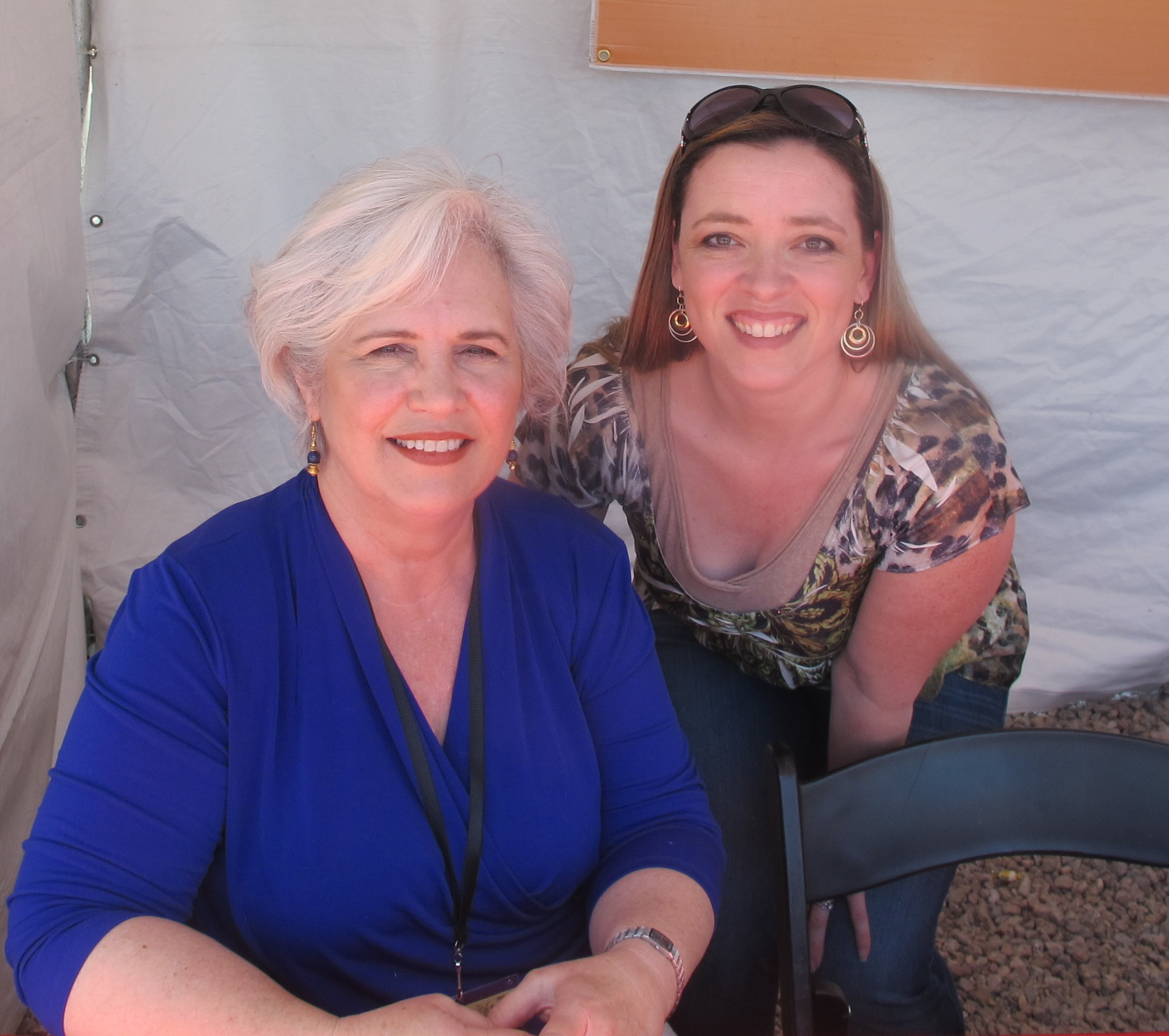 Nancy Turner and me! Yay!