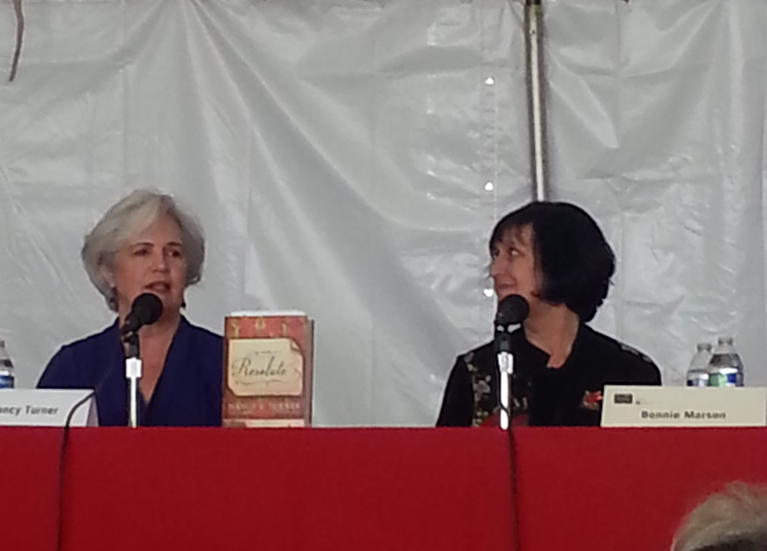 Nancy Turner speaking at the Tucson Festival of Books
