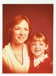 Me and my mother. Yes, I really did have that Irish red hair when I was little. :)