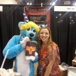 Donna Cook and cosplay fan at Phoenix Comicon