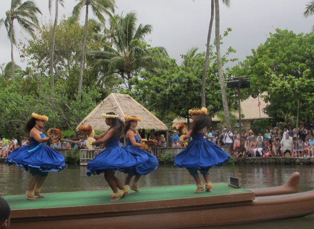 Canoe parade at Polynesian Cultural Center