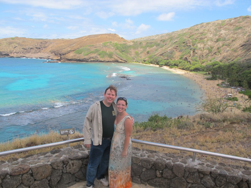 Donna Cook and Kevin McCain at Hanuama Bay Hawaii