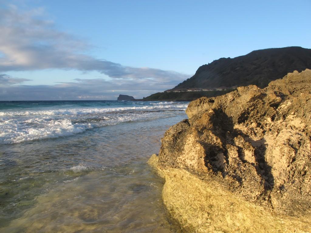 Private beach in Oahu Hawaii