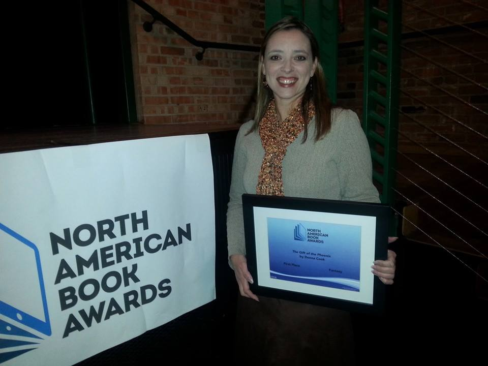 North American Book Awards Fantasy winner Donna Cook Gift of the Phoenix