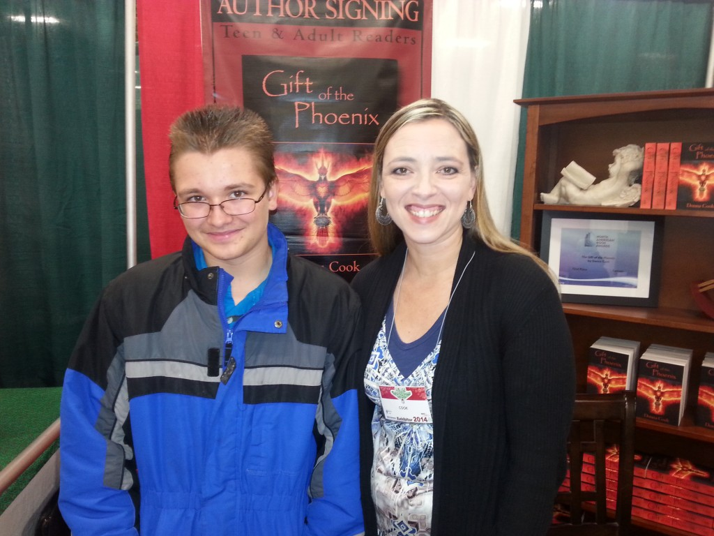 Donna Cook author and Jeremy at Boise Christmas Show 2014