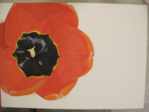 Tulip watercolor in progress 3 by Donna Cook