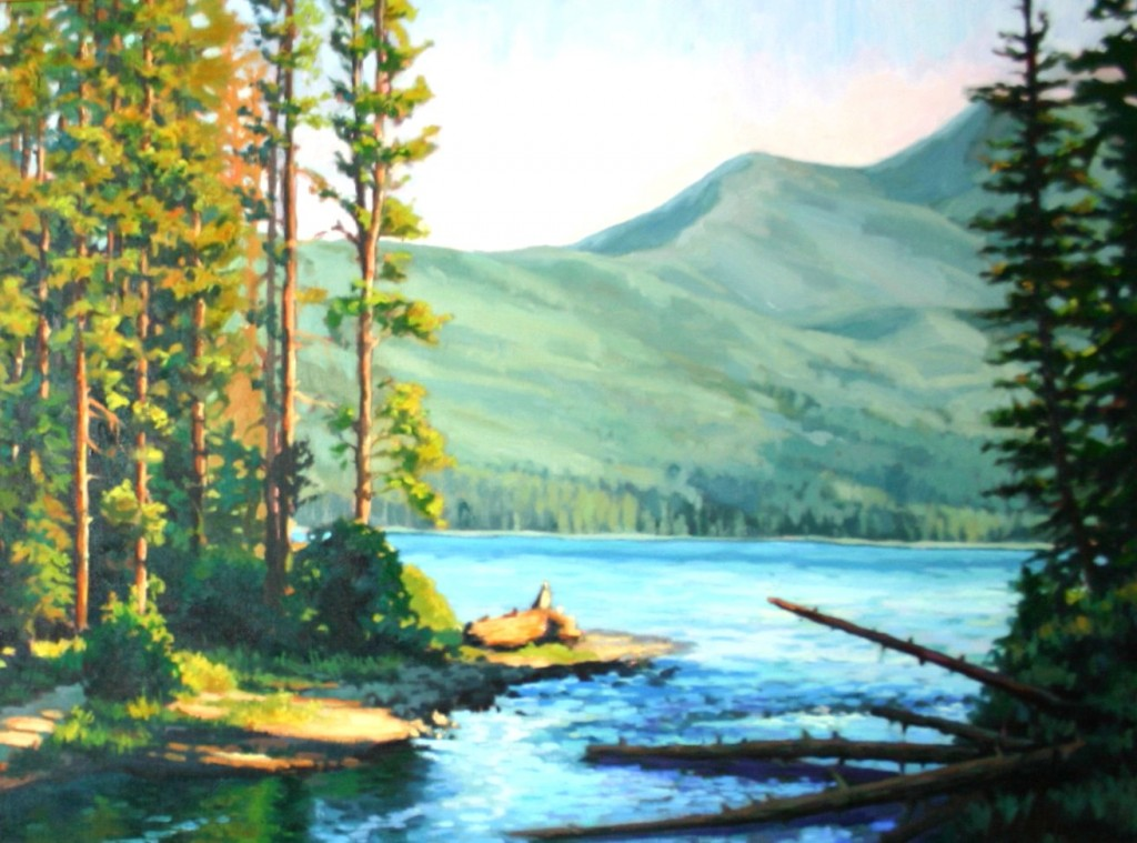 Alturas Lake by Morning by Kevin McCain. This hangs above our fireplace. I love it! :)