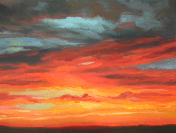 Sunset in Reds and Golds by Kevin McCain